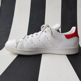 Sneakers Adidas. Stan Smith. Mt. 41. Wit/rood.