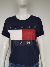 T-shirt Tommy Hilfigger. Mt. XS. Blauw/print.