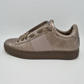 Stokton sneakers. Mt. 38. Metallic/leer.