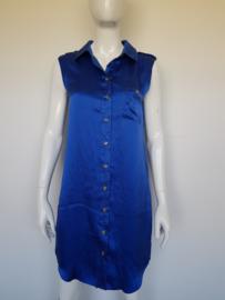 Supertrash blousejurk. Mt. 38. Blauw/zijde