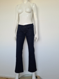 Kuyichi flared jeans. Mt. 36. Donkerblauw.