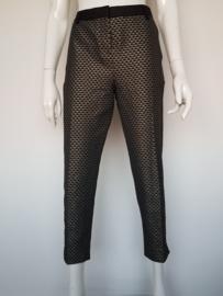 Cropped pantalon Alchemist. Mt. 38. Zwart/goud.