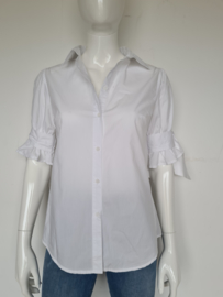Blouse met strikdetail. Mt. 36. Wit.