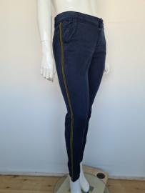 Summum Woman pantalon. Mt. 40. Blauw/goudkleurig