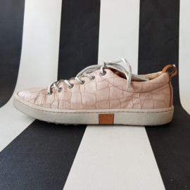 Sneakers Rehab. Mt. 38. Zachtroze/ snakeprint.