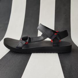 Leren Teva sandalen. Mt. 40. Zwart.