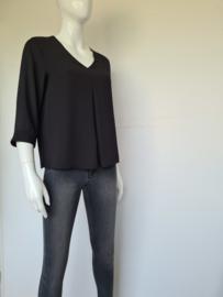 Comma blouse top. Mt. 38. Zwart.