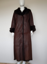 Chocoladebruine lammy Coat. Arma Collection. Mt.42.