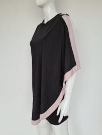 Ted Baker jurk. Mt. 3. Zwart/zachtroze.