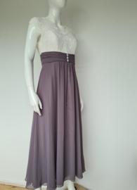 Lasense maxi dress. Mt. 36. Crème/taupe.