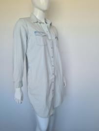 Levi's denim blouse jurk. Mt. L. Lichtblauw.