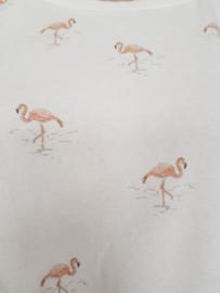 Sweater Yaya. Mt. L. Wit/flamingoprint.