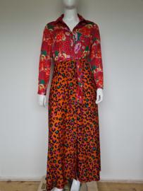 Est'Seven maxi dress. Mt. XL. Multi print.