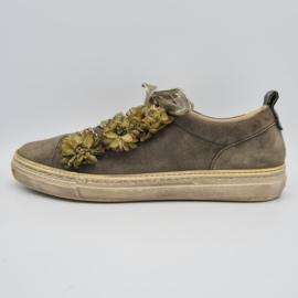 Gabor sneakers. Mt. 5. Olijfgroen/suède.