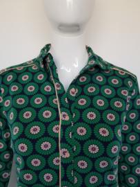 4FunkyFlavours blouse Paris. Mt. S. Groen/blauw/print.