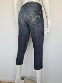 7 For All Mankind capri jeans. Mt. 31. blauw.