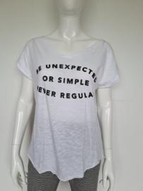 10Days shirt. Mt. 1. Wit/tekst.