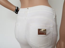 Skinny jeans Liu Jo. Mt. 38. Wit/print.