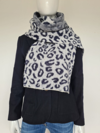 Scotch & Soda shawl. Dierenprint.