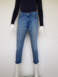 7 For All Mankind jeans Roxanne cropped. Mt. 29. Blauw.