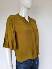 Samsoë & Samsoë blouse. Mt. M.  Yellow/green
