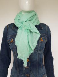 Becksöndergaard sjaal. Langwerpig model. Mintgroen.