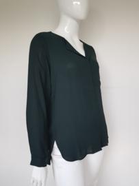 Selected Femme blouse. Mt. 42. Donkergroen/voile.