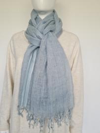 10Days shawl. Ijsblauw.