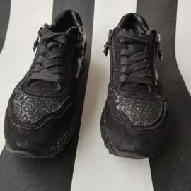 Sneakers Kennel & Schmenger. Mt. 37. Zwart/leer.