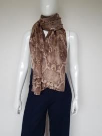 Zijden shawl Joline Jolink. Pythonprint.