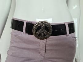 Moschino jeans ceintuur. Mt. 90. Zwart/zilver.