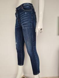 Elisabetta Franchi skinny jeans. Mt. 36. Cropped/blauw.