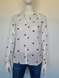 Scotch & Soda blouse. Mt. 2 Crème/print.