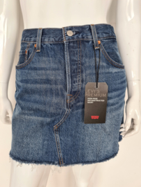 Levi's high-rise reconstructed skirt. Mt. 32. Blauw