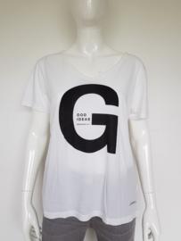 Penn & Ink shirt. Mt. XL. Crème/zwart/print.