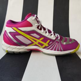 Asics Gel-Volley Elite sneakers. Mt. 41.5. Wit/fuchsia.