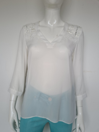 Fracomina blouse top. Mt. S. Wit