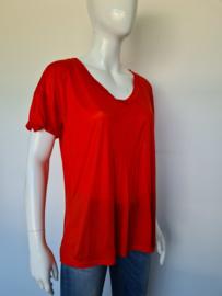 Elisabetta Franchi Maglia t-shirt. Mt. 46. Oranje.