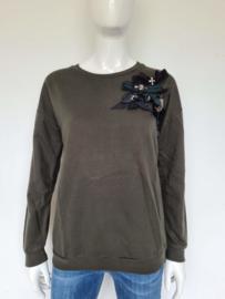 Liu Jo sweater. Mt. 40. Olijfgroen