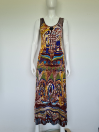 Save the Queen maxi dress. Mt. S. All over print.