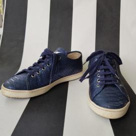 Sneakers Stokton. Mt. 37. Metallic blauw.