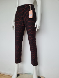 Scotch & Soda cropped pantalon. Mt. S. Zwart/rode sterren.