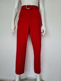 Pantalon Vanilia Punto Classic high waist. Mt. 40. Rood.