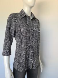 Studio Anneloes blouse. Mt. L. Zwart/wit/print.