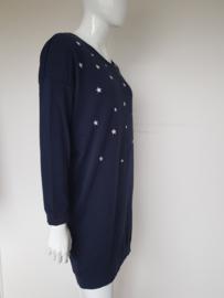 Sweater dress Catwalk Junkie. Mt. XL. Blauw/sterren.