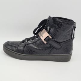Michael Kors sneakers. Mt. 8. Zwart/leer.