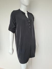 Silvercreek blouse jurk. Mt. XL. Antraciet.