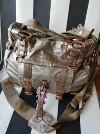 Cross body tas Gerorge, Gina Lucy. Metallic canvas.