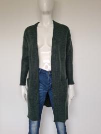 Selected Femme vest. Mt. XS. Donkergroen/wol.