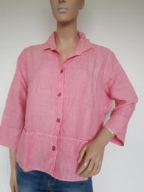 Linnen blouse Oska. Mt. 1. Roze.
